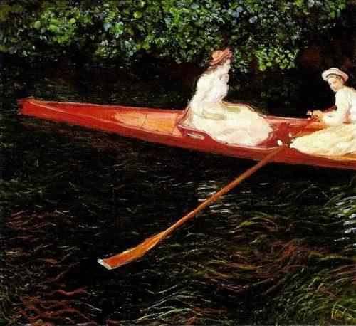 Claude Monet A canoa sobre o Epte