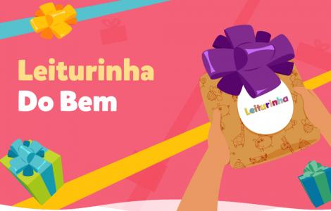 Leiturinha do Bem: ação solidária distribui livros para crianças em todo o Brasil